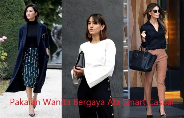 Pakaian Wanita Bergaya Ala Smart Casual